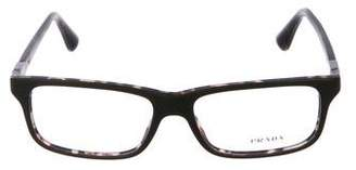 Prada Resin Square Eyeglasses