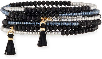 Panacea Jet Crystal Coil Bracelet