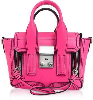 3.1 Phillip Lim Neon Pink Leather Pashli Nano Satchel