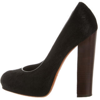 B Brian Atwood Ponyhair Round-Toe Pumps $110 thestylecure.com