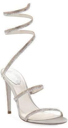 Rene Caovilla Snake-Coil Crystal Sandals
