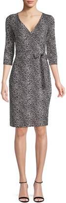Diane von Furstenberg New Julian Two Python Print Wrap Dress