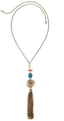 MIXIT Mixit Coral Turq Pearl Womens Pendant Necklace