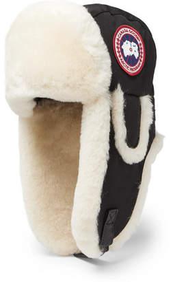 5854da028bbfd Canada Goose Shearling-Trimmed Shell Trapper Hat - Men - Black