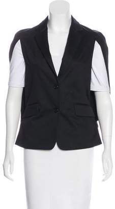 Alexis Notch-Lapel Button-Up Vest