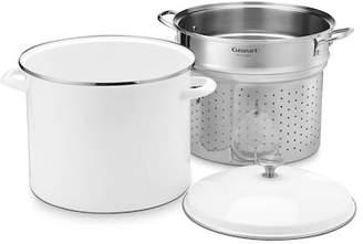 Cuisinart 3-Piece White 20-Quart Stockpot Steam Set