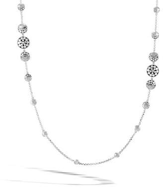 """John Hardy Dot Hammered Silver Moon Phase Station Necklace, 36"""""""