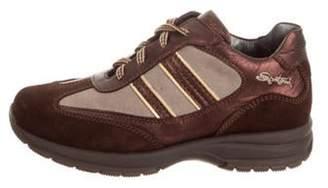 Santoni Boys' Suede Low-Top Sneakers w/ Tags brown Boys' Suede Low-Top Sneakers w/ Tags
