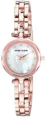 Anne Klein Women's Swarovski Crystal Accented -Tone Open Bracelet Watch