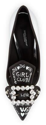 Dolce & Gabbana Bellucci Metallic Leather Pumps