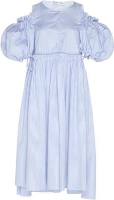 Dice Kayek Puff Sleeve Cotton Dress