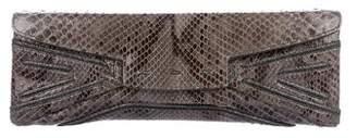 VBH Snakeskin Ascot Clutch