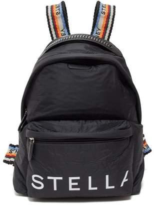 Stella McCartney Rainbow Jacquard Straps Padded Backpack - Womens - Black Multi