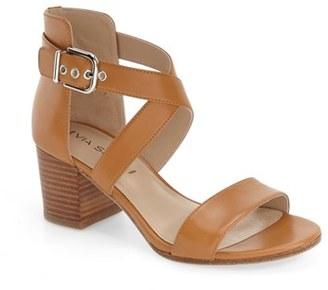Via Spiga 'Jobina' Crisscross Strap Block Heel Sandal $195 thestylecure.com