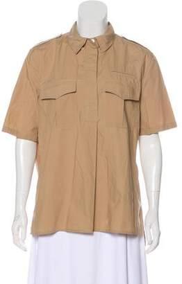Equipment Short Sleeve Button-Up Top