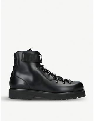Valentino VLTN logo-strap leather boots