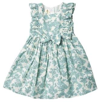 Laura Ashley Ruffle Sleeve Floral Dress (Toddler & Little Girls)
