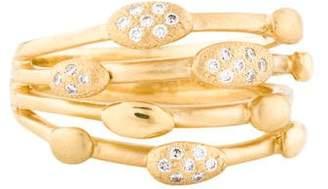 Anne Sportun 18K Diamond Pebble Ring