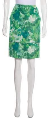 Dries Van Noten Silk Printed Skirt w/ Tags Green Silk Printed Skirt w/ Tags
