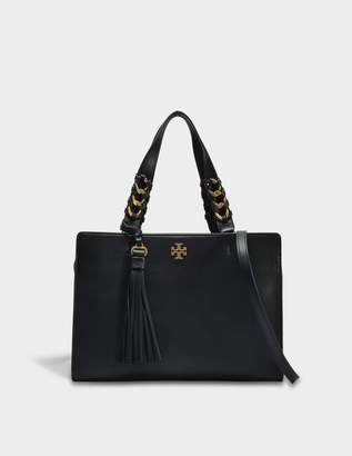 Tory Burch Brooke Satchel Bag in Black Leather