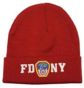 Factory NYC FDNY Winter Hat Police Badge Fire Department Of New York City & White One...