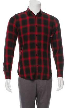 eab36027e7c Saint Laurent Shadow Plaid Shirt
