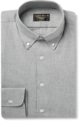 Emma Willis Slim-Fit Herringbone Brushed-Cotton Shirt