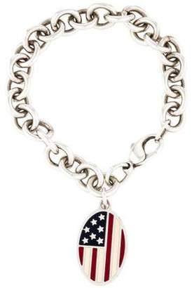 Tiffany & Co. American Flag Oval Tag Bracelet