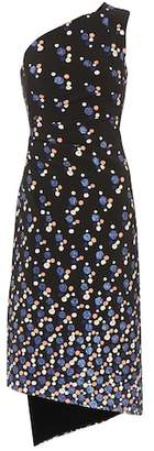 Peter Pilotto Printed one-shoulder cady dress
