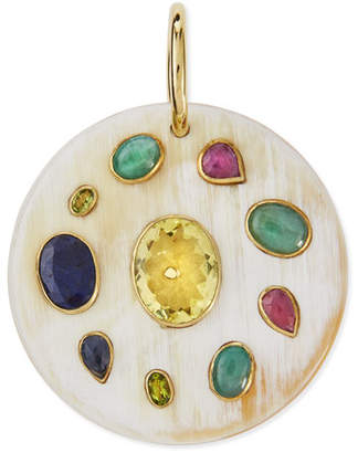 Ashley Pittman Taka Multi-Stone Pendant Enhancer, Light Horn