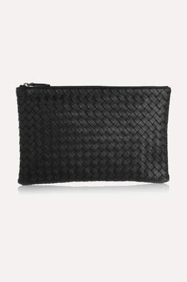 Bottega Veneta Intrecciato Leather Pouch - Black