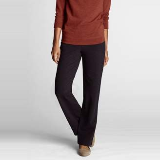 Lands' End Black Petite Starfish Refined Stretch Jersey Straight-Leg Trousers