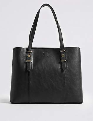 M&S Collection Faux Leather Soft Stud Tote Bag