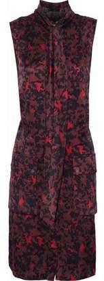Belstaff Printed Silk-Satin Mini Dress
