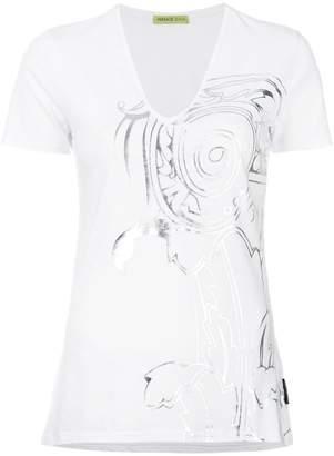 Versace metallic patterned T-shirt