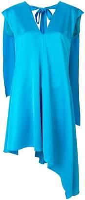 MSGM cape back asymmetric dress