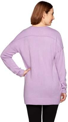 Denim & Co. Scoop Neck Drop Shoulder Long Sleeve Sweater