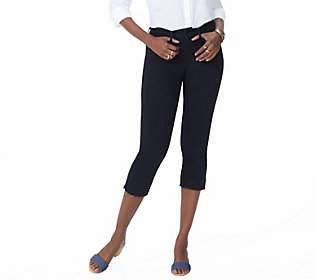 NYDJ 5-Pocket Capri Jeans with Released Hem- Black