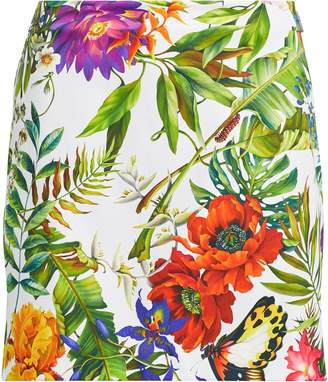 Ralph Lauren Floral-Print Satin Skort