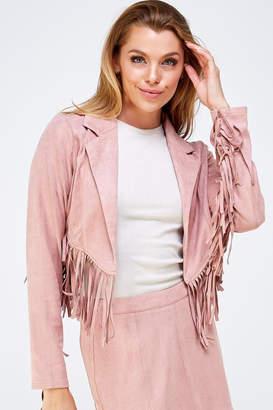 Wild Honey Pink Fringe Jacket