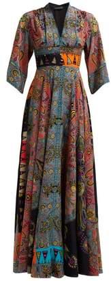 Etro Envision Sequinned Silk Crepe Dress - Womens - Black Multi