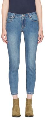 A.P.C. Indigo Étroit Court Jeans $210 thestylecure.com