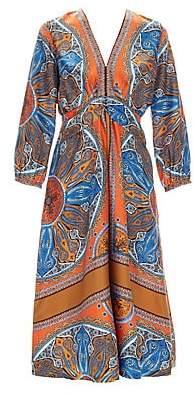 Sandro Women's Yani Silk Scarf Dress