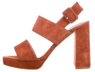 Barneys New York Barney's New York Suede Ankle Strap Sandals