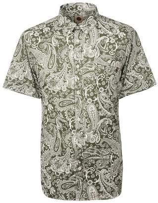 Pretty Green Short Sleeve Paisley Print Shirt
