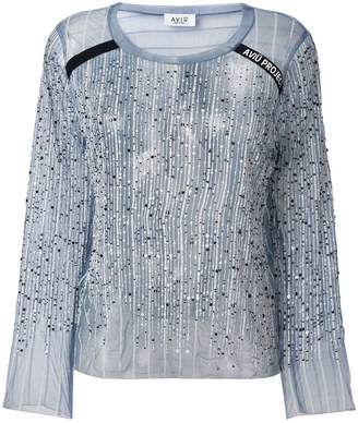 Free Shipping $250+ at Farfetch Aviu sequinned top