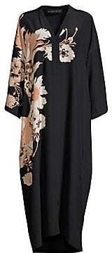 Etro Women's Silk Poppy Kaftan Dress