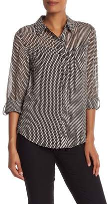 Nanette Lepore NANETTE Printed Button Down Blouse