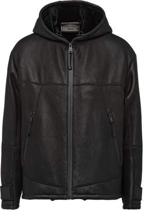 Prada Hooded Shearling Jacket