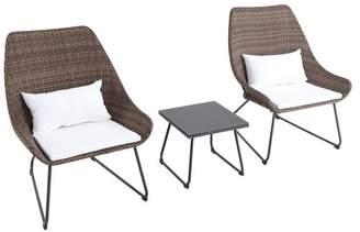 Mod Furniture Montauk 3-Piece Wicker Scoop Chat Set